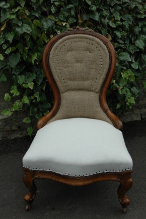 Preparation for deep buttoning of nursing chair